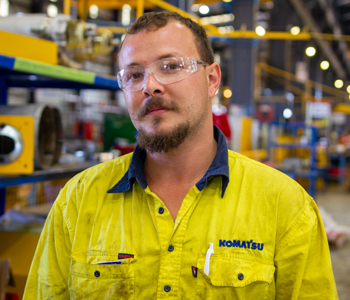 <em>Rudy Daniels</em> - Hired, Up-Skilled and now working for Blue Tongue as a Heavy Mobile Plant Technician at NRW Mining & Civil 1