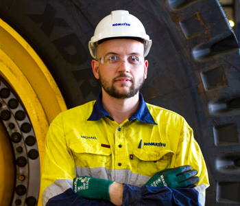<em>Rudy Daniels</em> - Hired, Up-Skilled and now working for Blue Tongue as a Heavy Mobile Plant Technician at NRW Mining & Civil 2