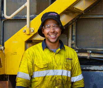 <em>Joshua Hemsworth</em> - Hired, Up-Skilled, graduated and successfully working as a Heavy Mobile Plant Technician at Komatsu Mining Corp 2